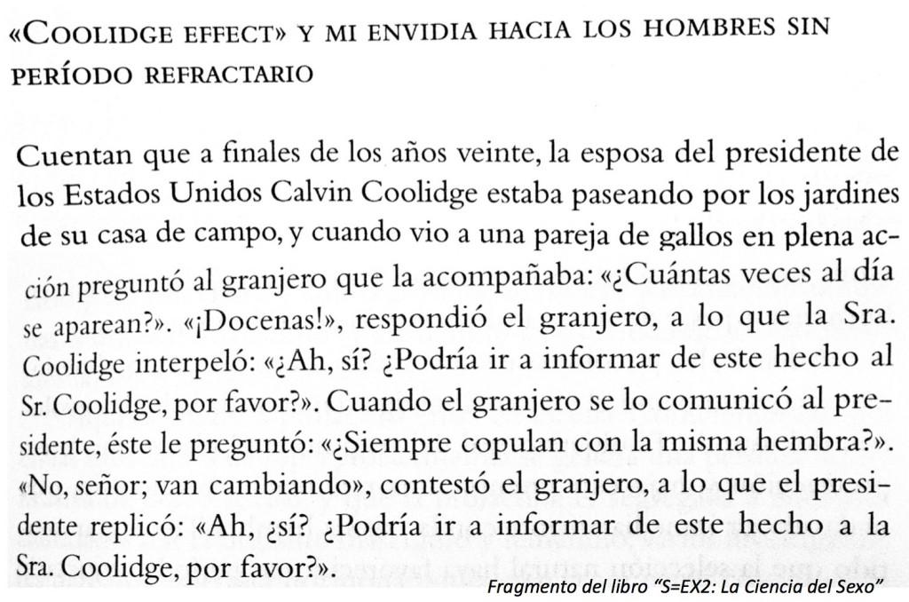 """Origen del término """"Efecto Coolidge"""" (Fuente: S=EX2: La Ciencia del Sexo)"""